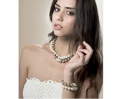 Luxusní náramek z perel Swarovski Lucent 32162 BEI