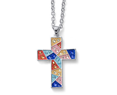 Dlouhý náhrdelník s křížkem Gaudi Cruz L 12012 MUL