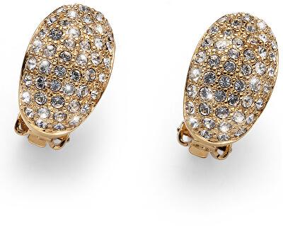 Luxusní pozlacené náušnice klipsy Shine 22733G