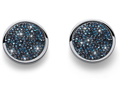 Náušnice se sypanými krystaly Extase 22731 BLU