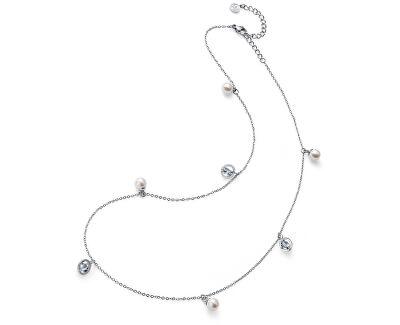Ocelový náhrdelník s perličkami Stay 11916
