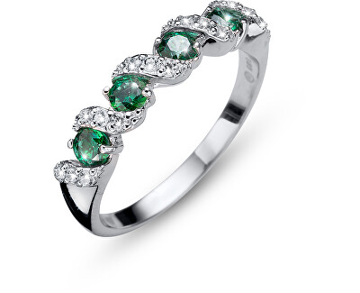 Originální prsten s krystaly Paso 63236 GRE