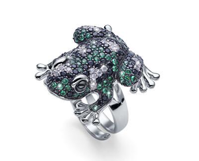 Oslňující stříbrný prsten Froggy 63242