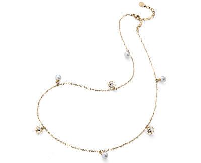 Pozlacený náhrdelník s perličkami Stay 11916G