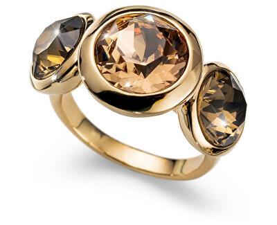 Oliver Weber Pozlacený prsten s krystaly Working Every 41130 246