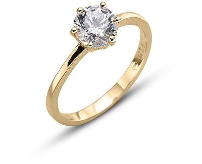 Oliver Weber Pozlacený stříbrný prsten Brilliance 63222G
