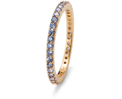 Oliver Weber Pozlacený stříbrný prsten s modrými krystaly Jolie 63225G BLU