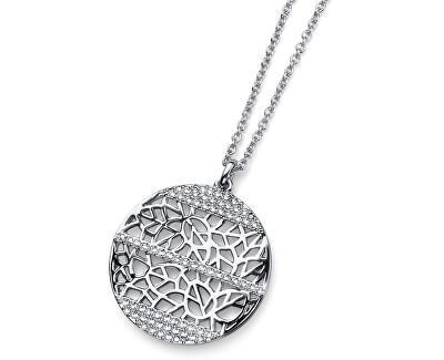 Oliver Weber Rhodiovaný náhrdelník Terra 11608R