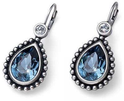 Romantické náušnice s modrými krystaly Beach Antique Drop 22636 207