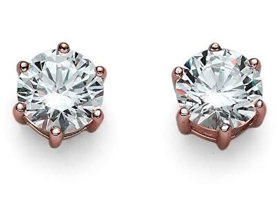 Cercei din aur roz, cu cristale de argint Brilliance 62066RG 001