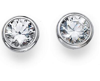 Stříbrné náušnice s krystaly Basic 62072