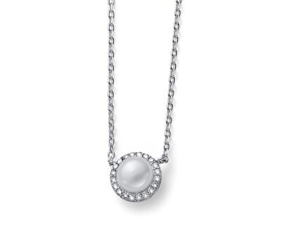 Stříbrný náhrdelník Last Pearl 61162