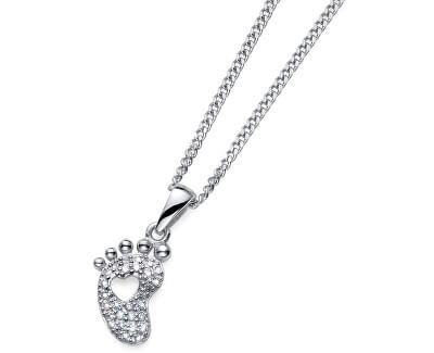Stříbrný náhrdelník s dětskou nožičkou Pace 61141 (řetízek, přívěsek)