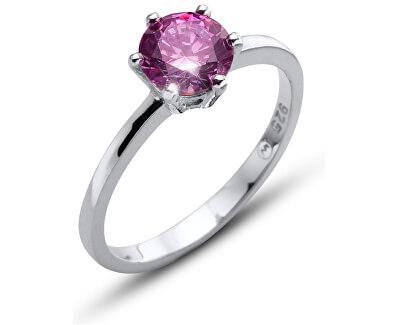 Oliver Weber Inel de argint cu cristal violetMorning Brilliance Large 63221 PUR
