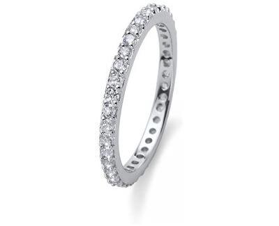 Strieborný prsteň s kryštálmi Beach Jolie 63225