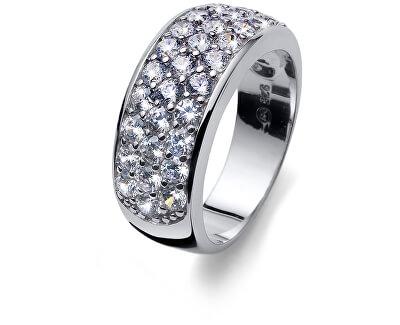 Stříbrný prsten s krystaly Heaven 63240