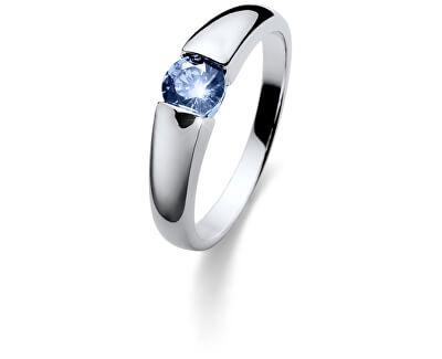 Strieborný prsteň s modrým kryštálom Beach Tender 63224 BLU