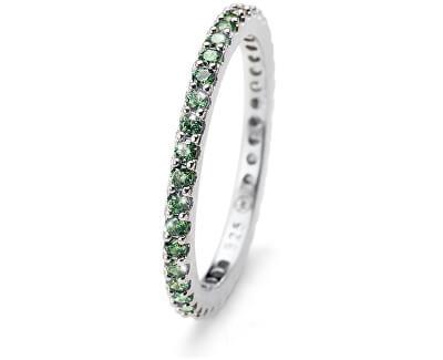 Inel din argint cu cristale verzi Jolie 63225R GRE
