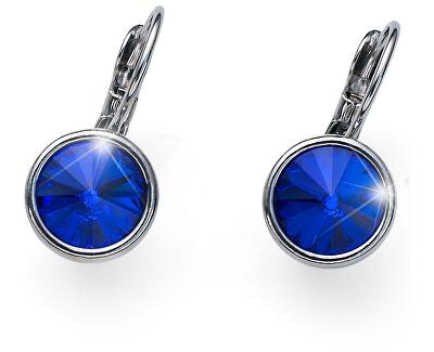 Stylové náušnice s modrými krystaly Young 22729 296