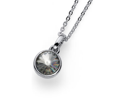 Stylový náhrdelník s třpytivým krystalem Young 11924 215