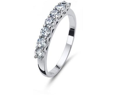 Třpytivý stříbrný prsten 63239R