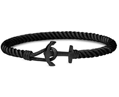 Čierny náramok s kotvou PH-PHL-NBB