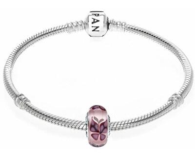 Růžový korálek Motýli 791621