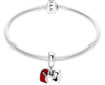 Stříbrný přívěsek Disney Mickey a Minnie 791441NCK