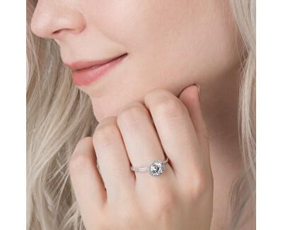 Třpytivý stříbrný prsten 196250CZ