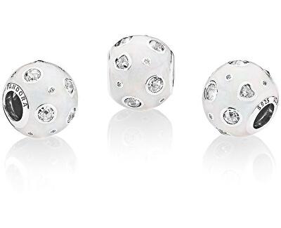 Stříbrný korálek s perletí a kamínky 797033EN23