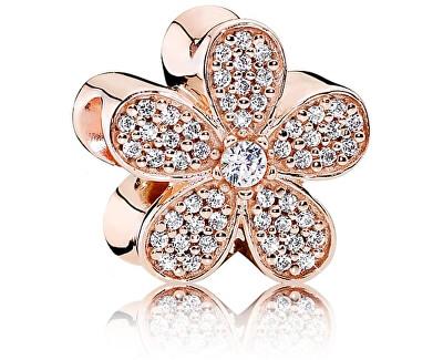 Bronzový korálek květina s třpytivými krystaly 781480CZ