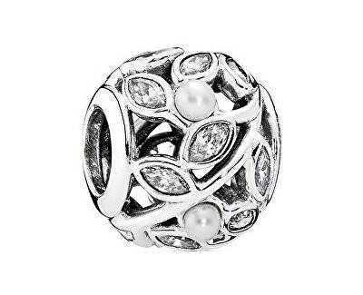 Pandora Picături cu perle reale și de cristal frunze 791754P