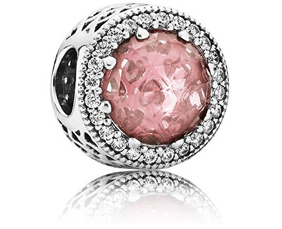 Luxusné korálik s ružovým kryštálom 791725NBP