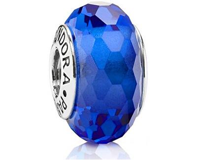 Pandora Modrý korálek z broušeného skla 791067