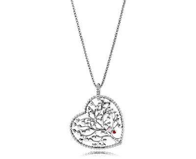 Překrásný stříbrný náhrdelník Strom lásky 396582ENMX-75 (řetízek, přívěsek)