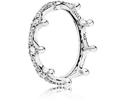 Překrásný stříbrný prsten Začarovaná koruna 197087CZ