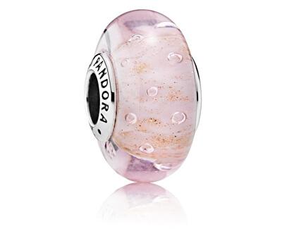 Skleněný růžový korálek 791670