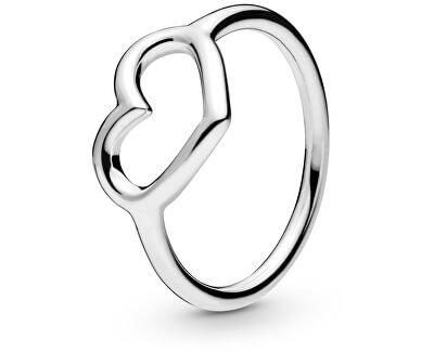 Stříbrný prsten se srdíčkem 198613C00