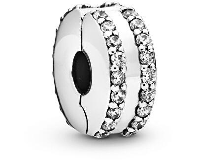 Stříbrný klip s třpytivými kamínky 798422CO1
