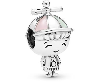 Stříbrný korálek Chlapeček s čepičkou 798015ENMX