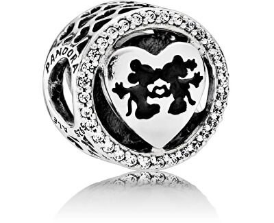 Stříbrný korálek Disney Mickey a Minnie 791957CZ