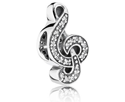Stříbrný korálek Houslový klíč 791381CZ