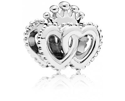 Stříbrný korálek Královská srdce 797670