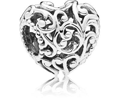 Stříbrný korálek Královské srdce 797672