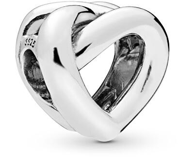 Stříbrný korálek Propletené srdce 798081