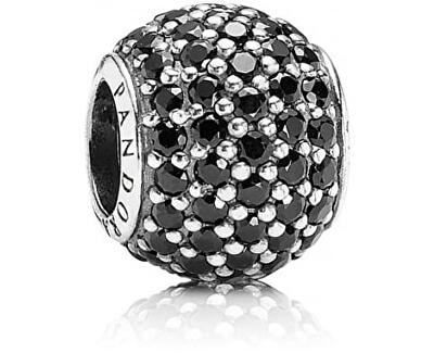 Accesoriu din argint brățară tip PANDORA cu cristale negre 791051NCK