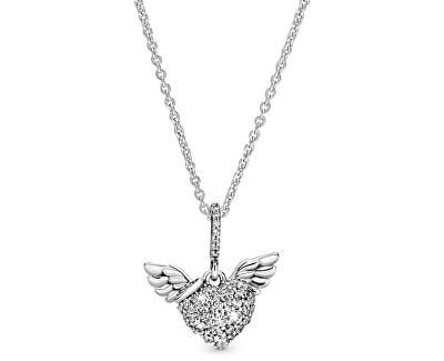 Stříbrný náhrdelník Andělské srdce 398505C01-45