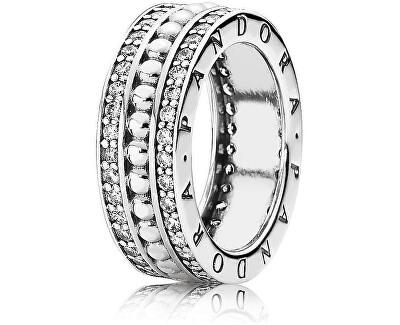 Stříbrný prsten s kamínky 190962CZ