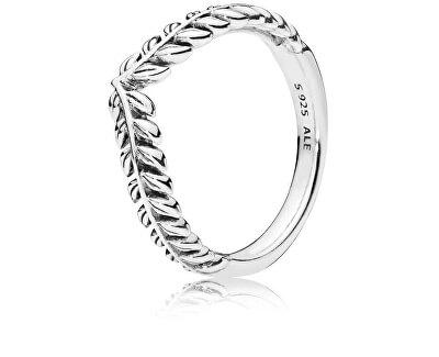 Stříbrný prsten s obilnými klasy 197681