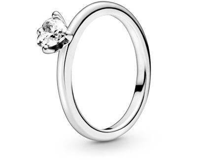 Stříbrný prsten se srdíčkem 198691C01